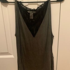 HM tank with lace